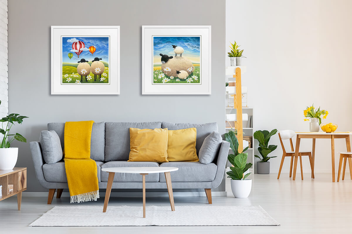 Framed art on wall in living room | Lucy Pittaway