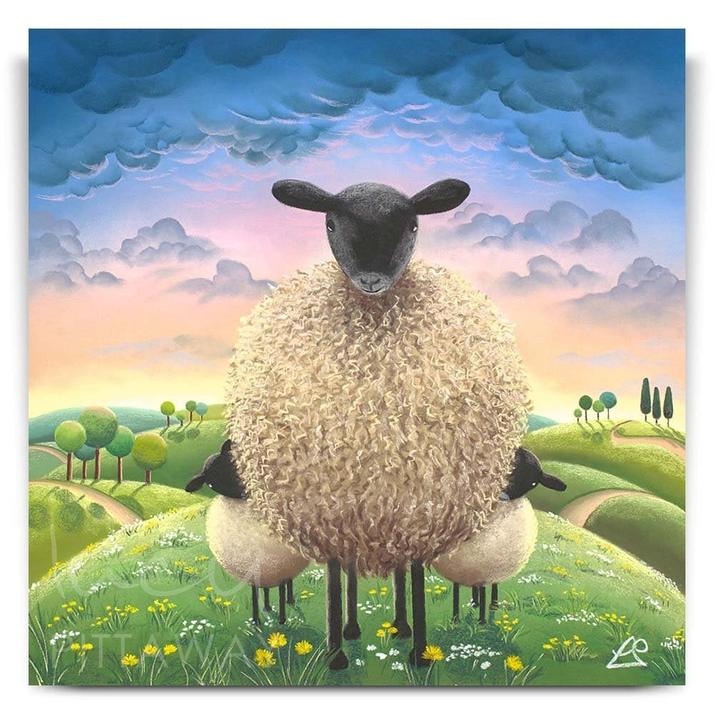 the sheep a little sheepish print lucy pittaway