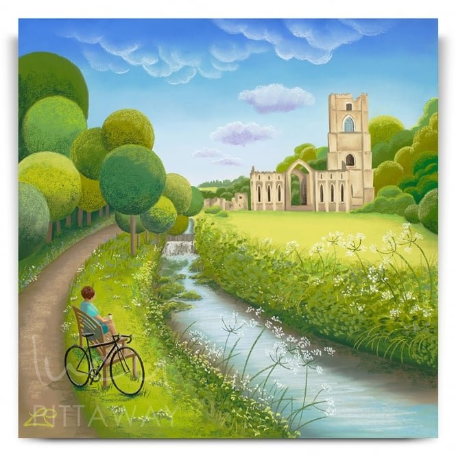 A Moment Of Reflection - Fountains Abbey (Print)