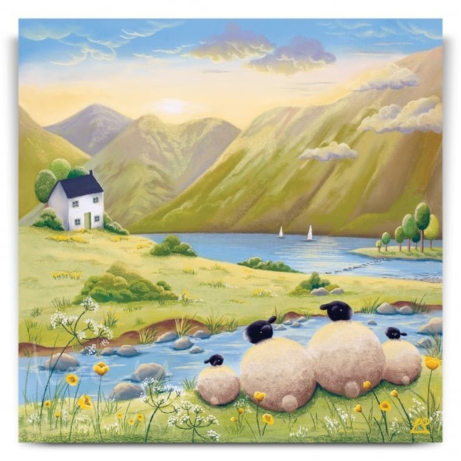 Afternoon Adventure - Sheep Art (Print)