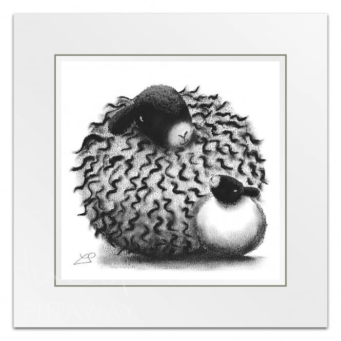 Bubble and Squeak - Sheep Art (Little Print)