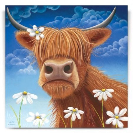 22115472d39 Daisy - Highland Cow Art (Canvas)