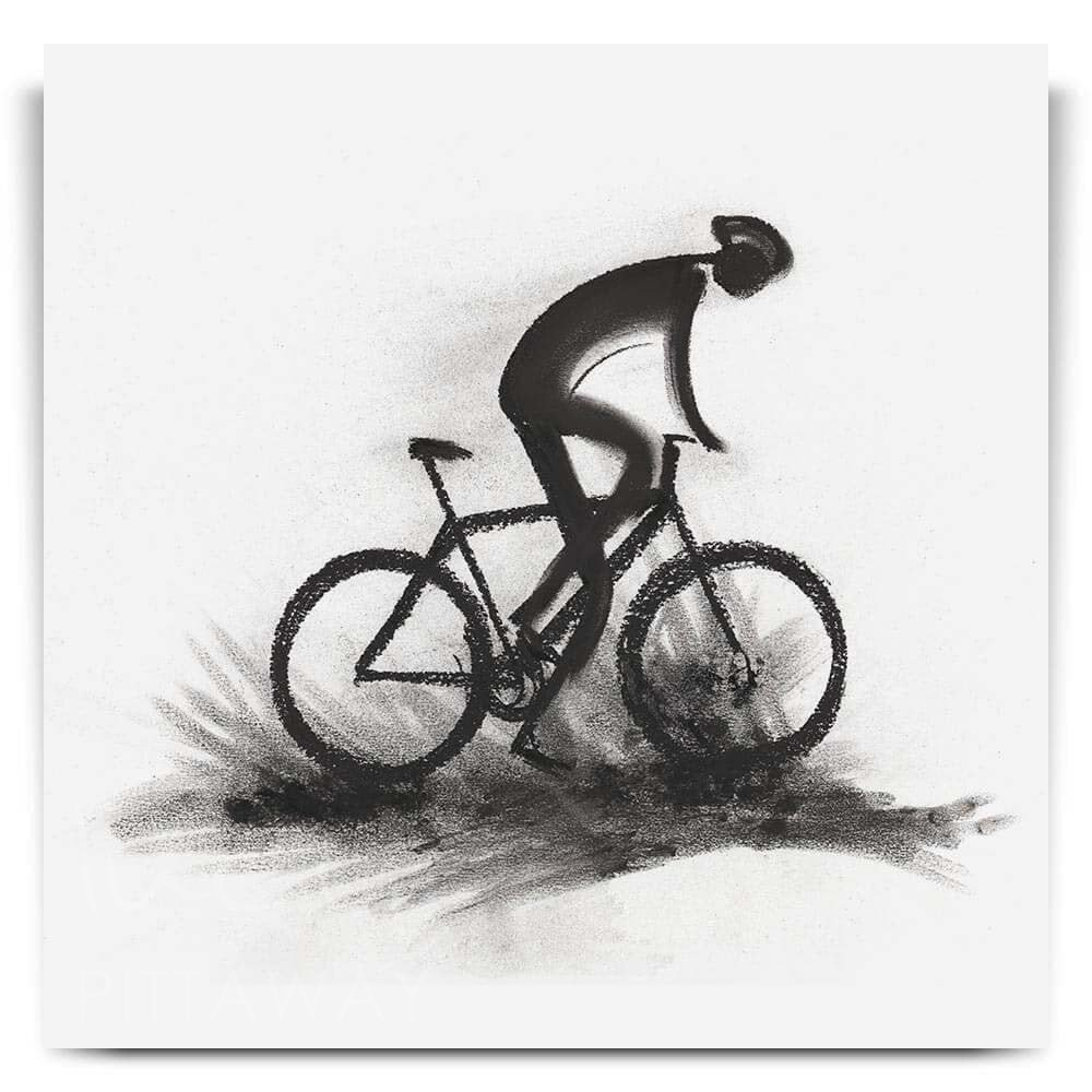 Determination Cycling Art Print Artwork From Lucy Pittaway Ltd Uk