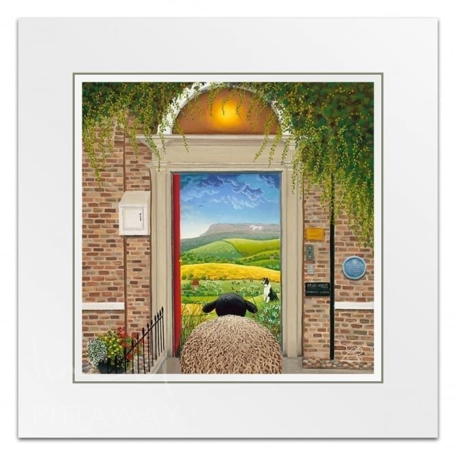 Door To Herriot Country - Sheep Art (Little Print)