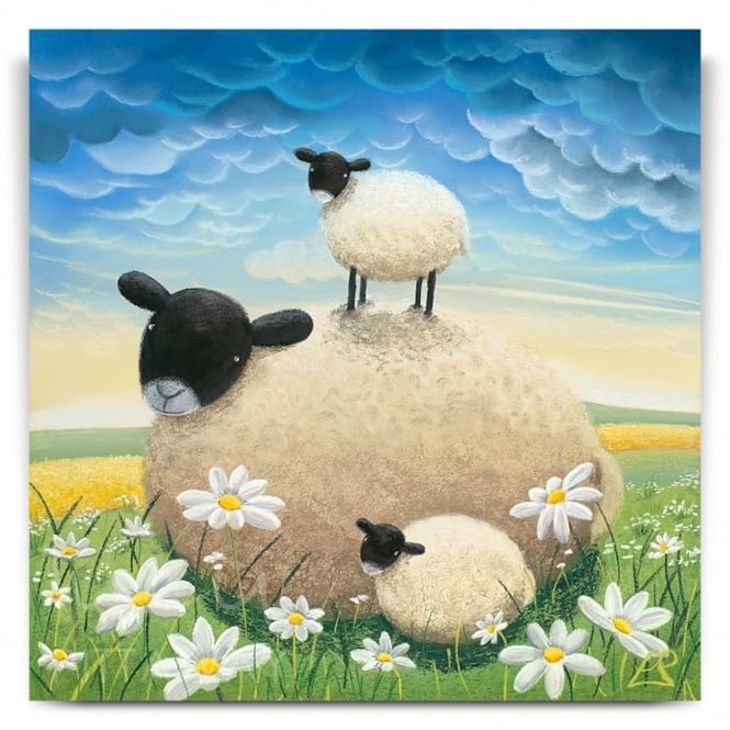Double Trouble - Sheep Art (Canvas)