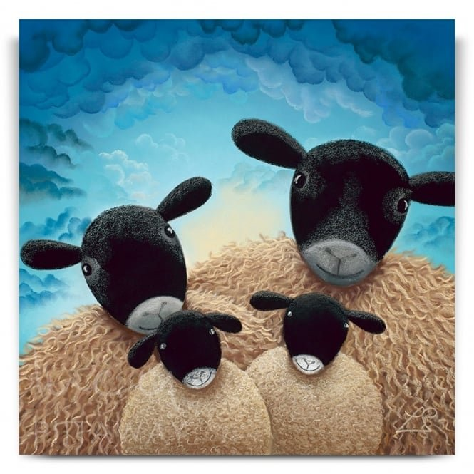 Family Portrait - Sheep Art (Print)