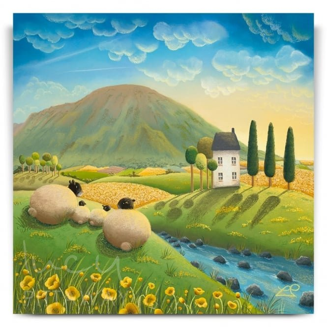 Family Time - Sheep Art (Canvas)