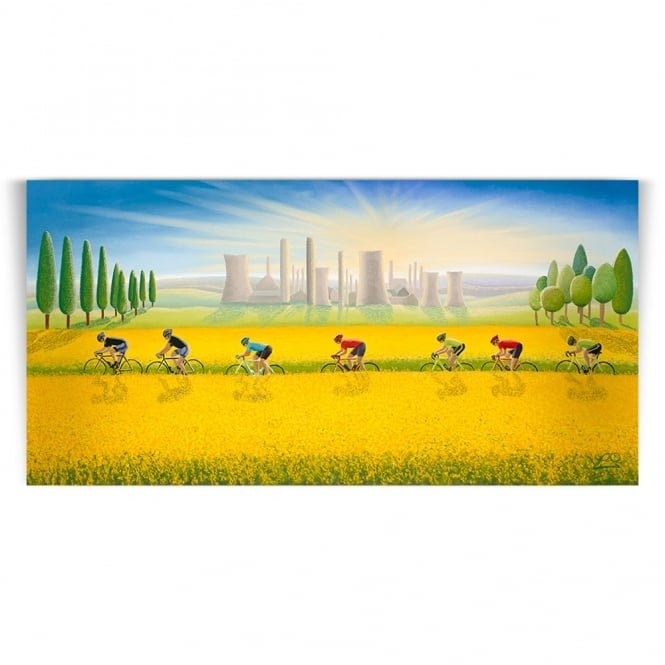 Fields Of Gold - Cycling Art (Print)