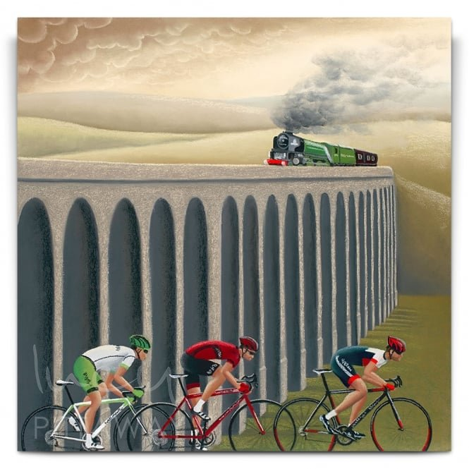 Full Steam Ahead - Cycling Art (Print)