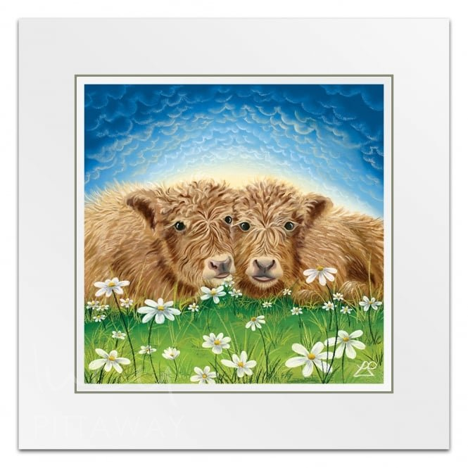 Ginger and Biscuit - Cow Art (Little Print)