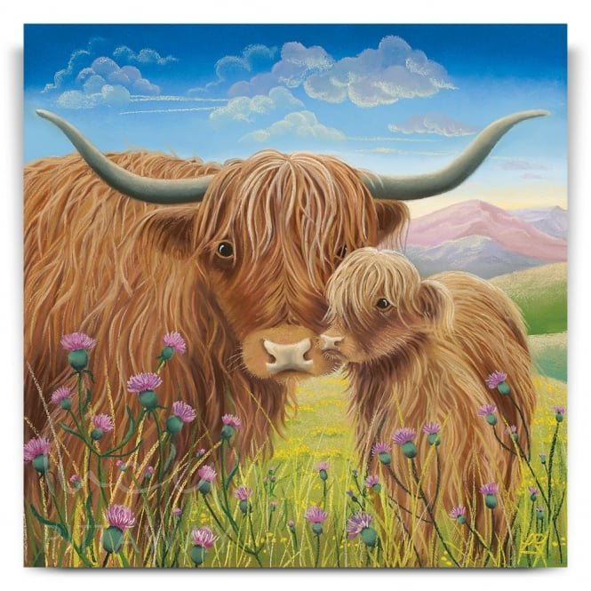 Heather and Thistle - Highland Cow (Canvas)