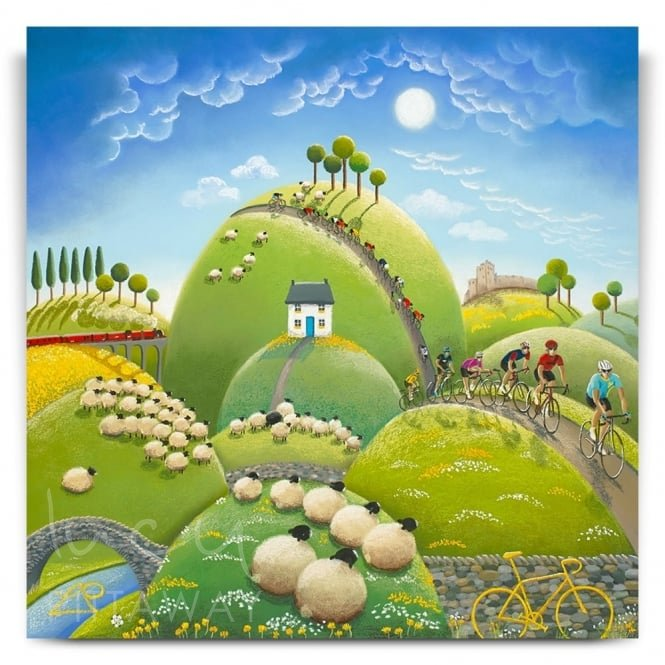Hills, Dales and Woolly Tails - Tour de Yorkshire (Canvas)
