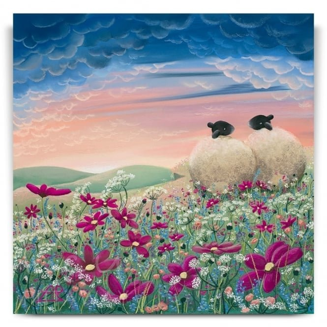 Ladybird In The Meadow - Sheep Art (Print)