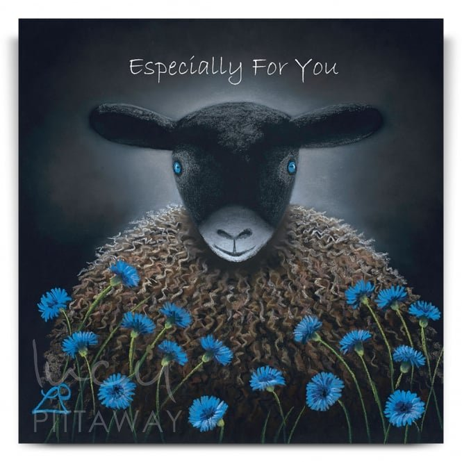 Lucy Pittaway Blue Eyes Greetings Card