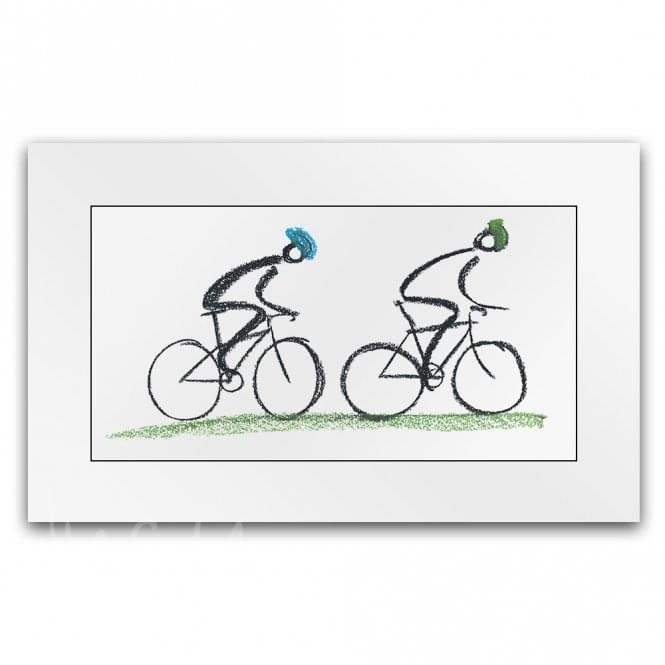 Lucy Pittaway Country Ride - Cycling Art (Little Print)