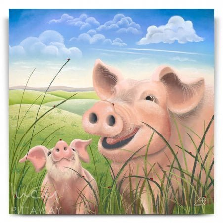 2ec5bf4d507 Happy Times - Pig Artwork (Canvas). Lucy Pittaway ...