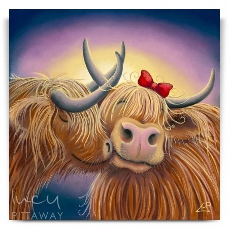 b55262bdc02 Me and Moo - Cow Art (Canvas) · Lucy Pittaway ...