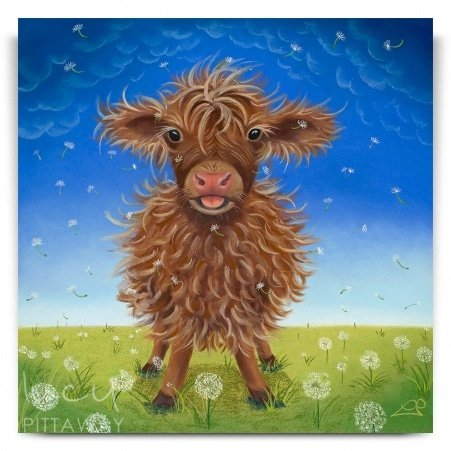 61f95d38765 Mini Moo - Cow Art (Canvas) · Lucy Pittaway ...