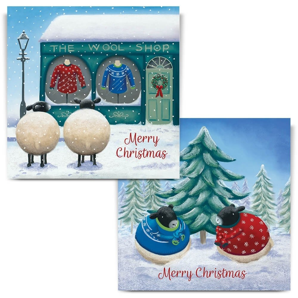 Mixed Pack Of 8 Christmas Cards 2 Designs 2019