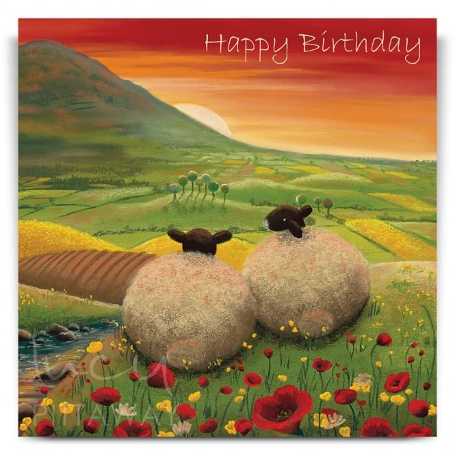 Lucy Pittaway Red Dawn Greetings Card