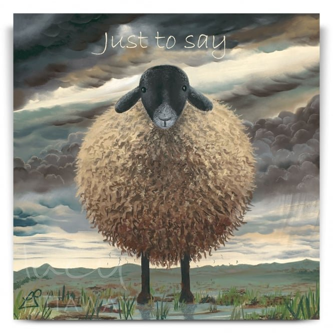 Lucy Pittaway Shaggy Sheep Greetings Card