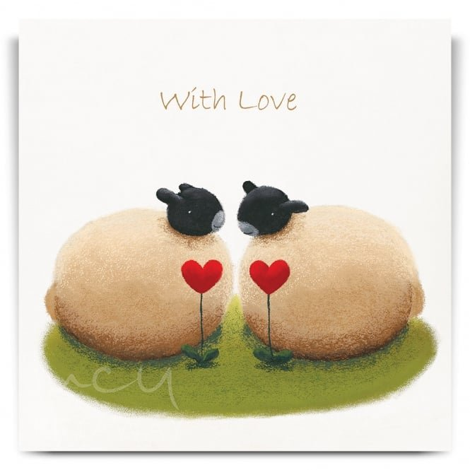 Lucy Pittaway Two Hearts Greetings Card