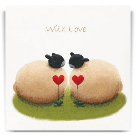 Two Hearts Greetings Card