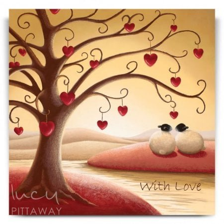 Under The Tree Of Love Greetings Card