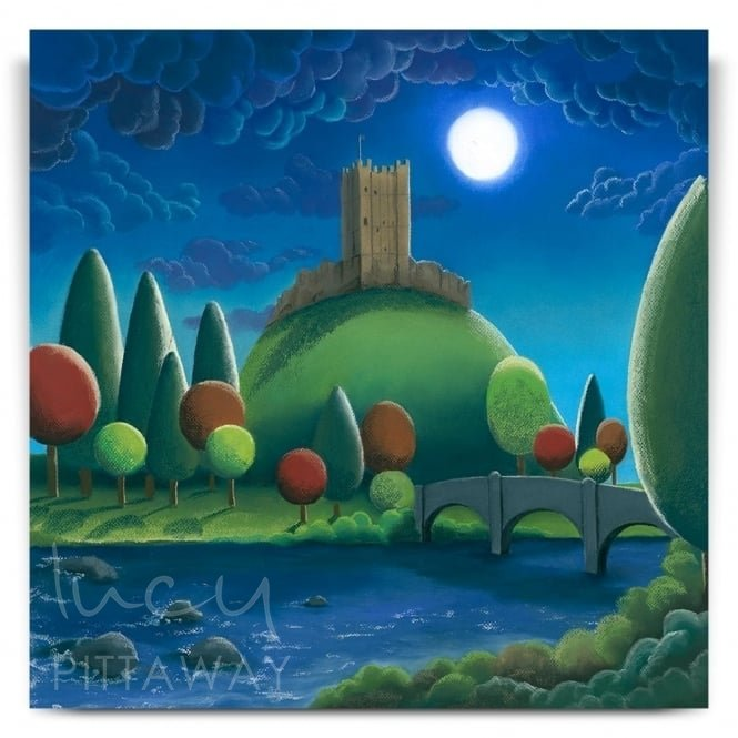 Moonlight On Richmond Castle (Print)