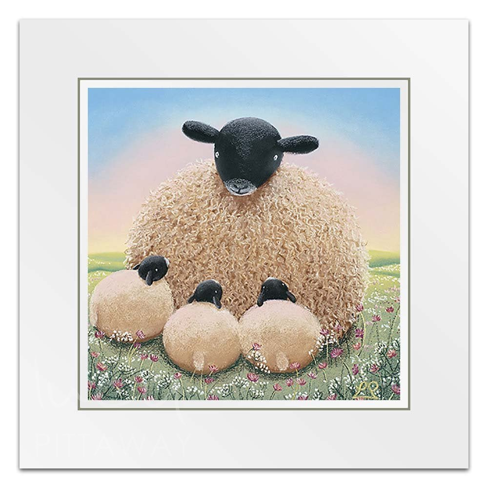 97034e4c2cc Sheep Art - Motherly Love Little Print - Lucy Pittaway