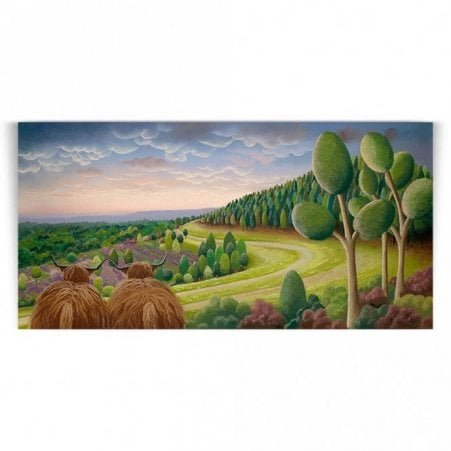 1ffa2088871 Path To Discovery - Cow Art (Print)