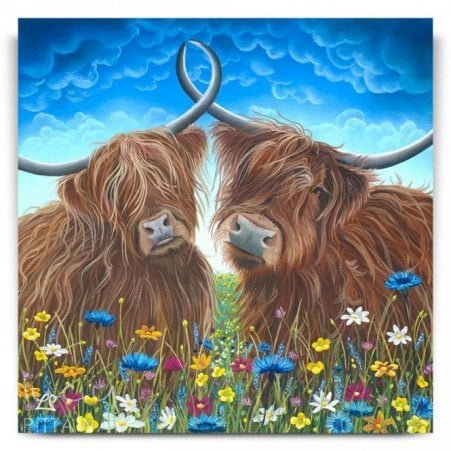bd8f6d2175c Samson and Delilah - Highland Cows (Canvas)