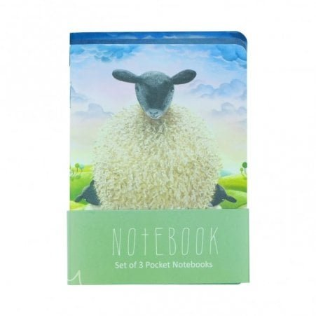 Set Of Three Pocket Notebooks (sheep)