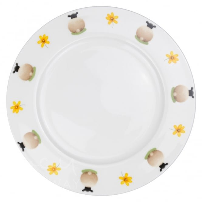 Sheep and Daisy Dinner Plate