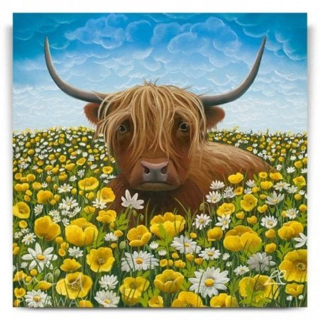 f815662b6bb So Mootiful - Highland Cow (Canvas)