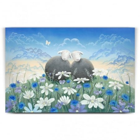 Summer Love - Sheep Art (Print)