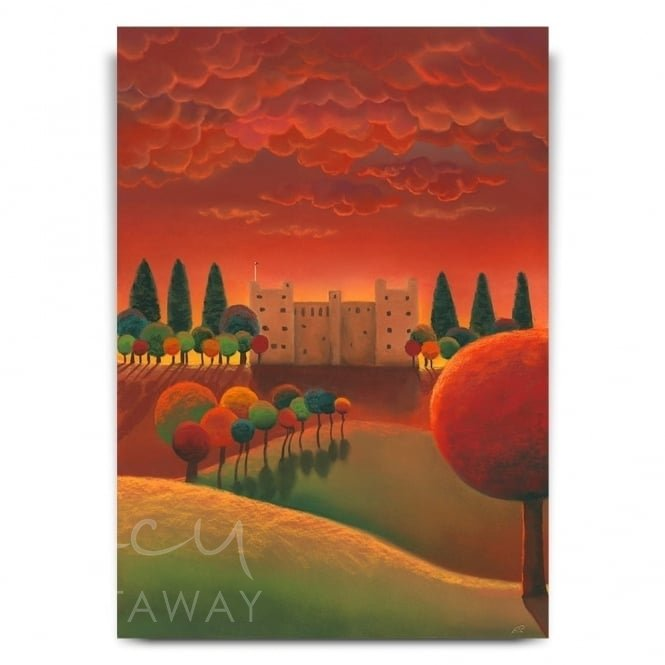 Sunset At Bolton Castle (Print)