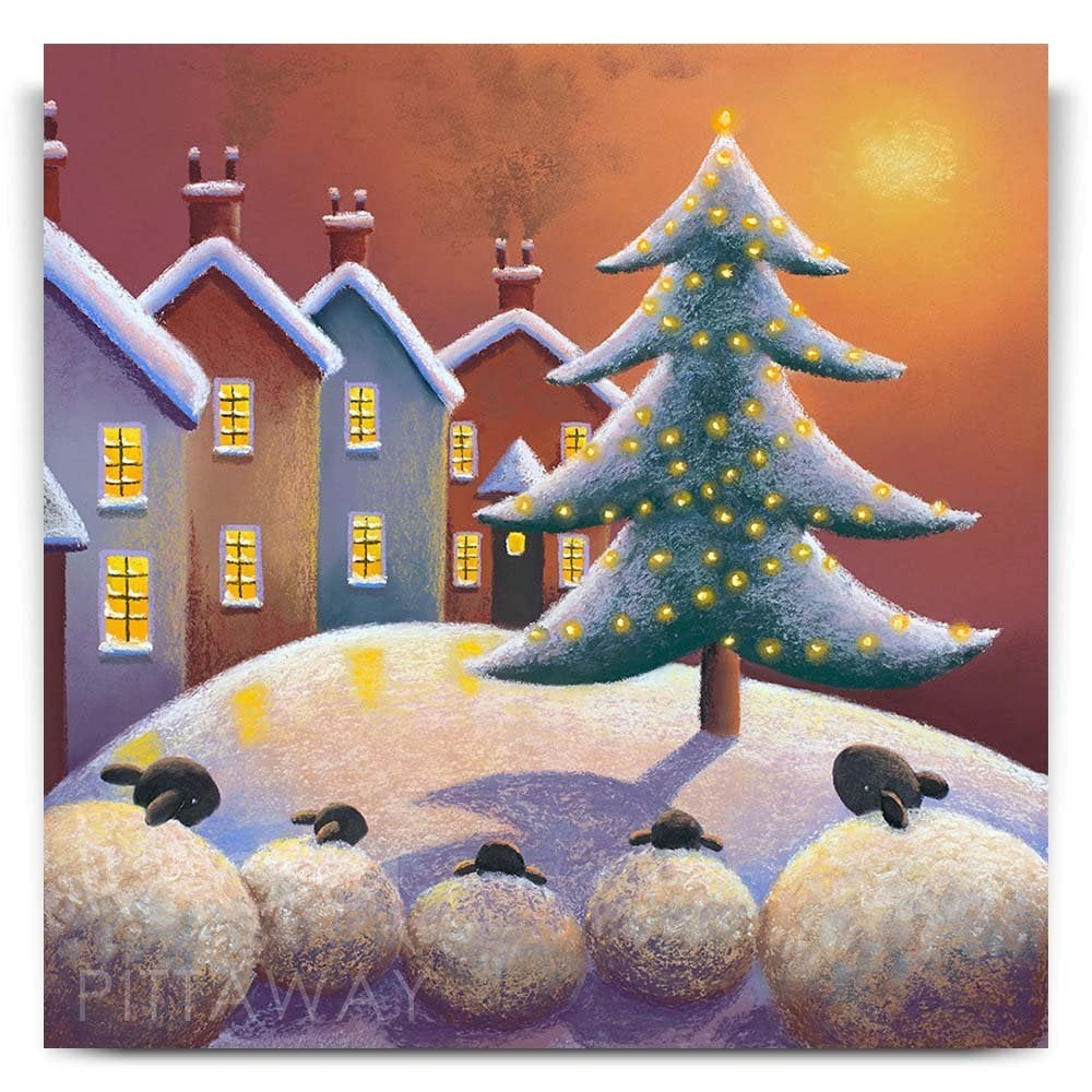Christmas Art.The Warmth Of Christmas Sheep Art Print