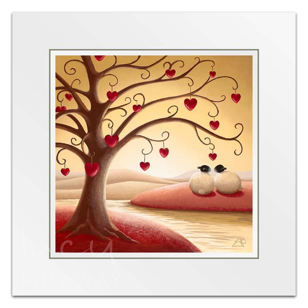 2dc9d39614d Sheep Art - Under The Tree Of Love Little Print - Lucy Pittaway