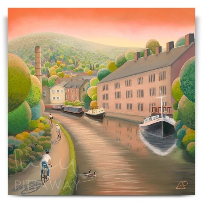 Waterside Ride - Hebden Bridge (Canvas)
